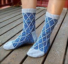 Diamant sokker - pdf mønster